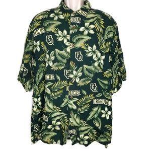 Reyn Spooner XXL Oregon Ducks Hawaiian Shirt 2XL